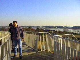 我孫子市 生涯学習センター「アビスタ」屋上よりの眺望