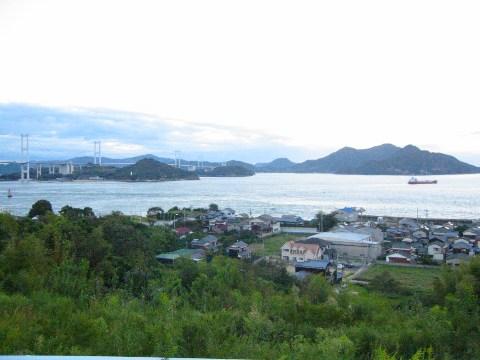 しまなみ海道来島海峡サービスエリアよりの眺め