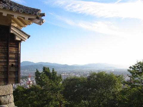 松山城よりの眺め