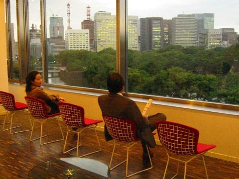 竹橋の国立近代美術館の休憩室