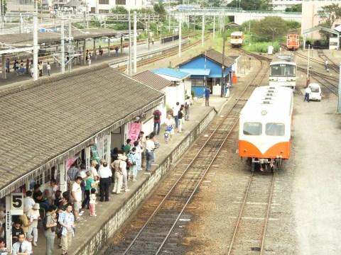 鹿島鉄道石岡駅のホーム