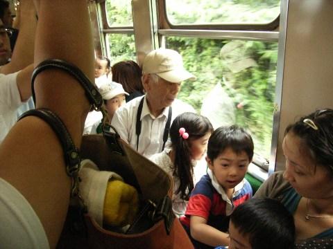 鹿島鉄道キハ432の車内