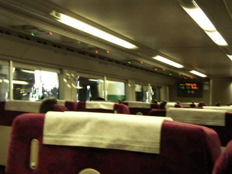 営業を開始した常磐線グリーン車の車内