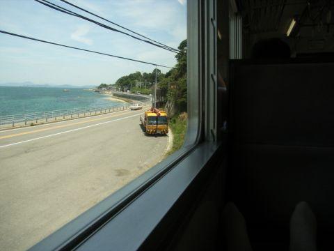 予讃線の車窓の眺め