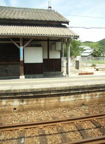 予讃線の車窓の眺め(伊予桜井)