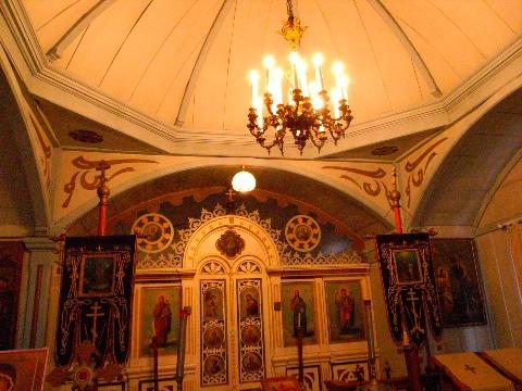 北鹿ハリストス正教会の内部