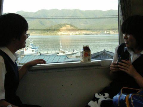 大船渡線の車窓