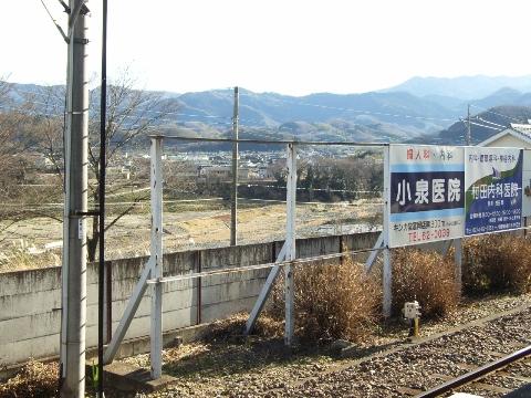 上信電鉄 上州一ノ宮駅 ホームよりの眺め
