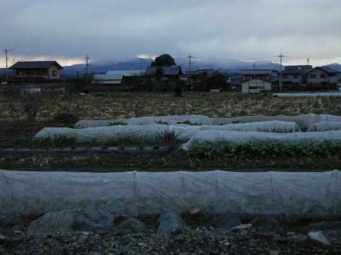 群馬県甘楽町の風景と榛名山