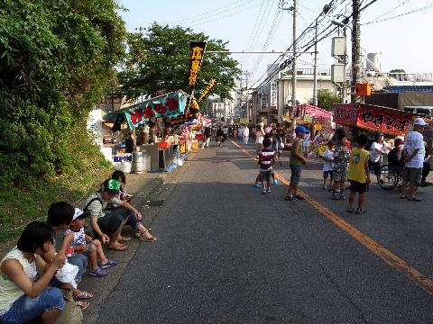 我孫子の八坂神社のお祭り