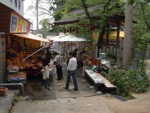 筑波山神社脇の参道