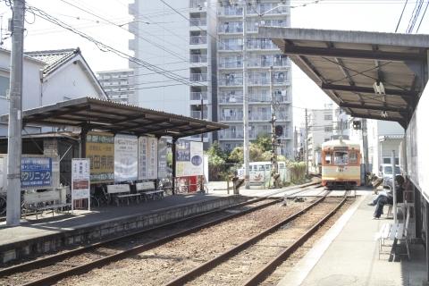 松山の路面電車「木屋町」の電停