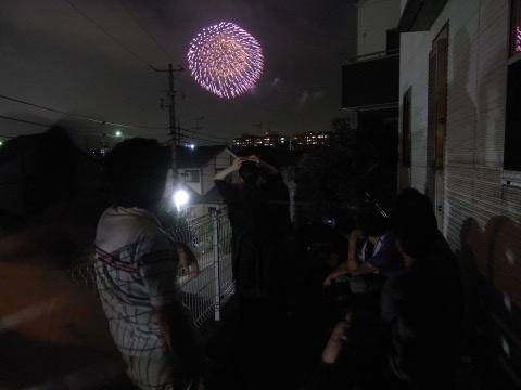 勝田台での花火