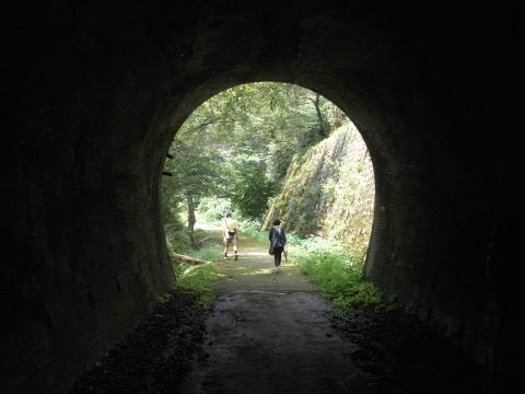 碓氷峠の旧線の遊歩道