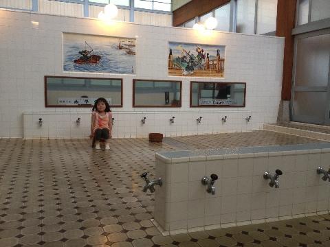 江戸東京たてもの園の銭湯というか湯屋にて