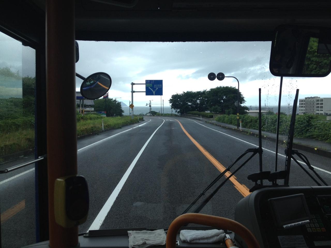 敦賀駅から丹生へ向かう福鉄バスからの眺め