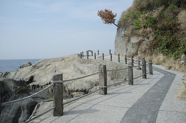 富浦の雀島に行く道